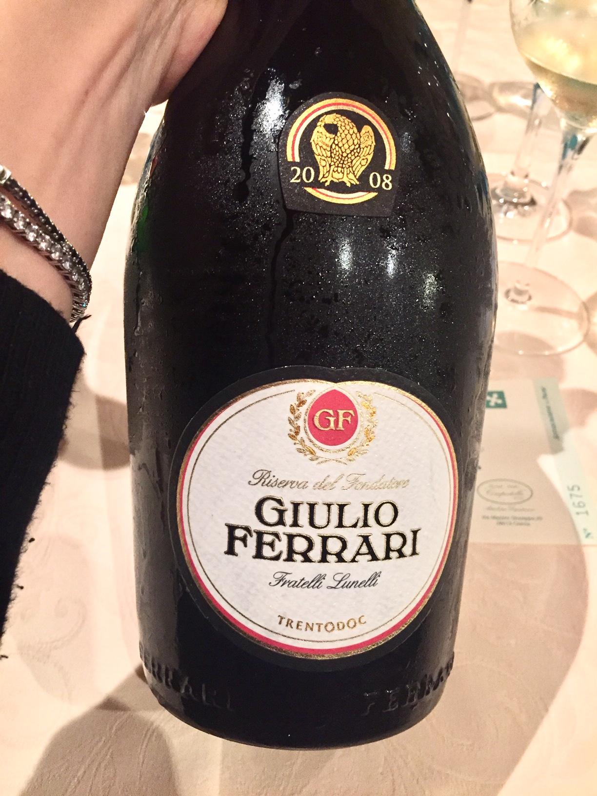 etichetta di Giulio Ferrari 2008 bollicine