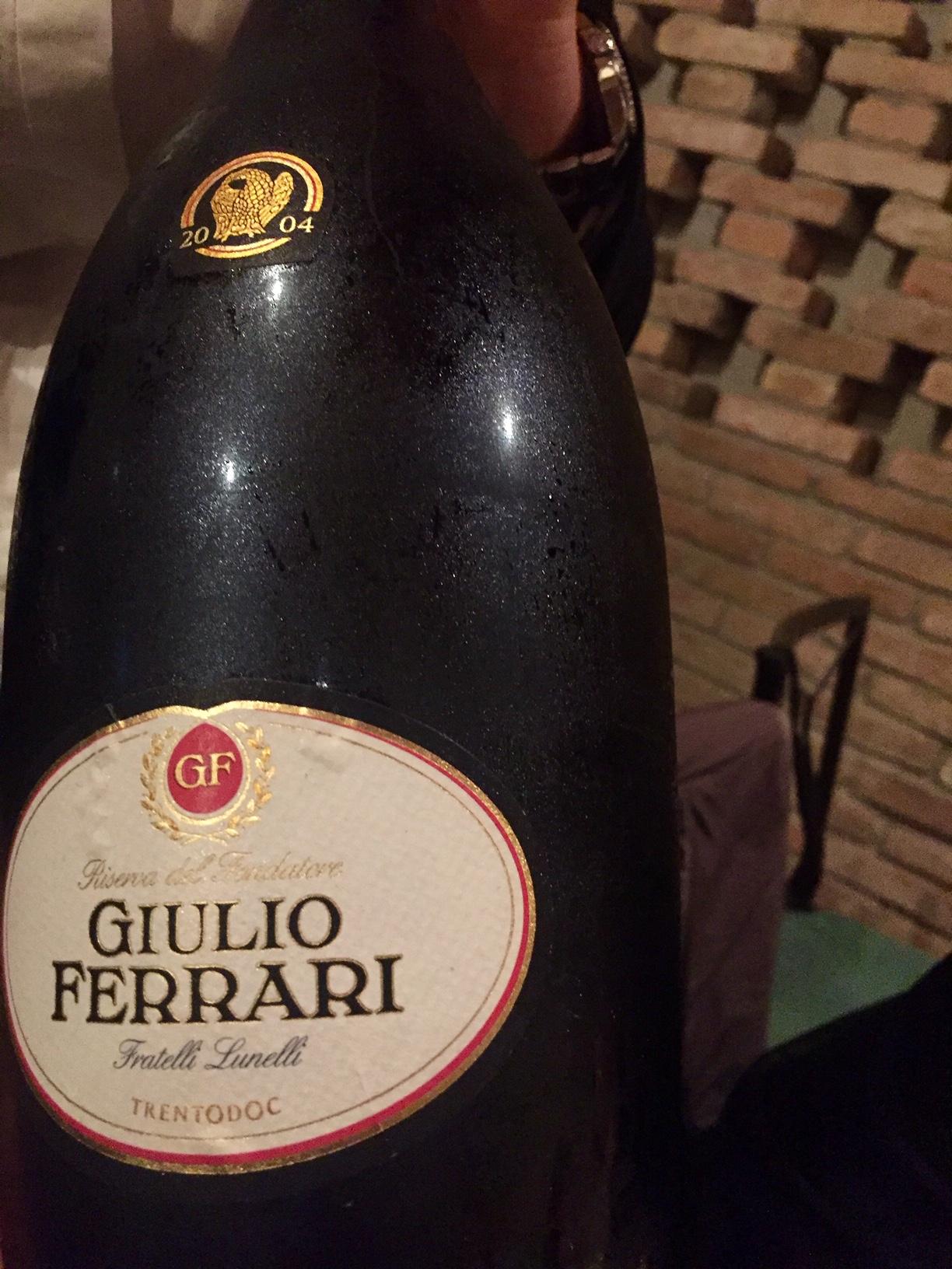 Giulio Ferrari Riserva del Fondatore 2004, ricordo della mia cena con Ruben Larentis