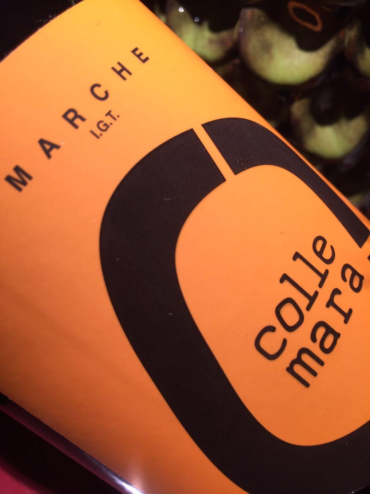 Etichetta arancione per il vino pecorino di Collemara