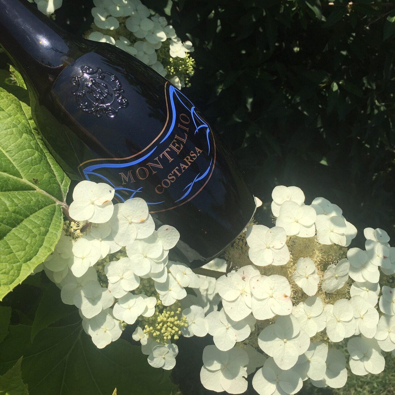 oltrepò pavese Costarsa Montelio, Pinot Nero Oltrepo Pavese, bottiglia scura e pesante, in rilievo lo stemma di famiglia. Cantina storica dell'Oltrepo Pavese cantine vino