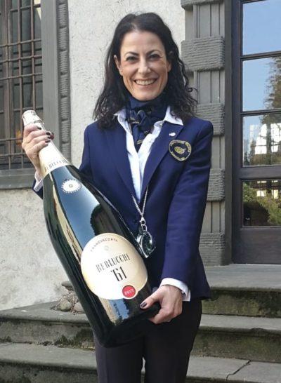 Anna Corrù sommelier in visita da Berlucchi