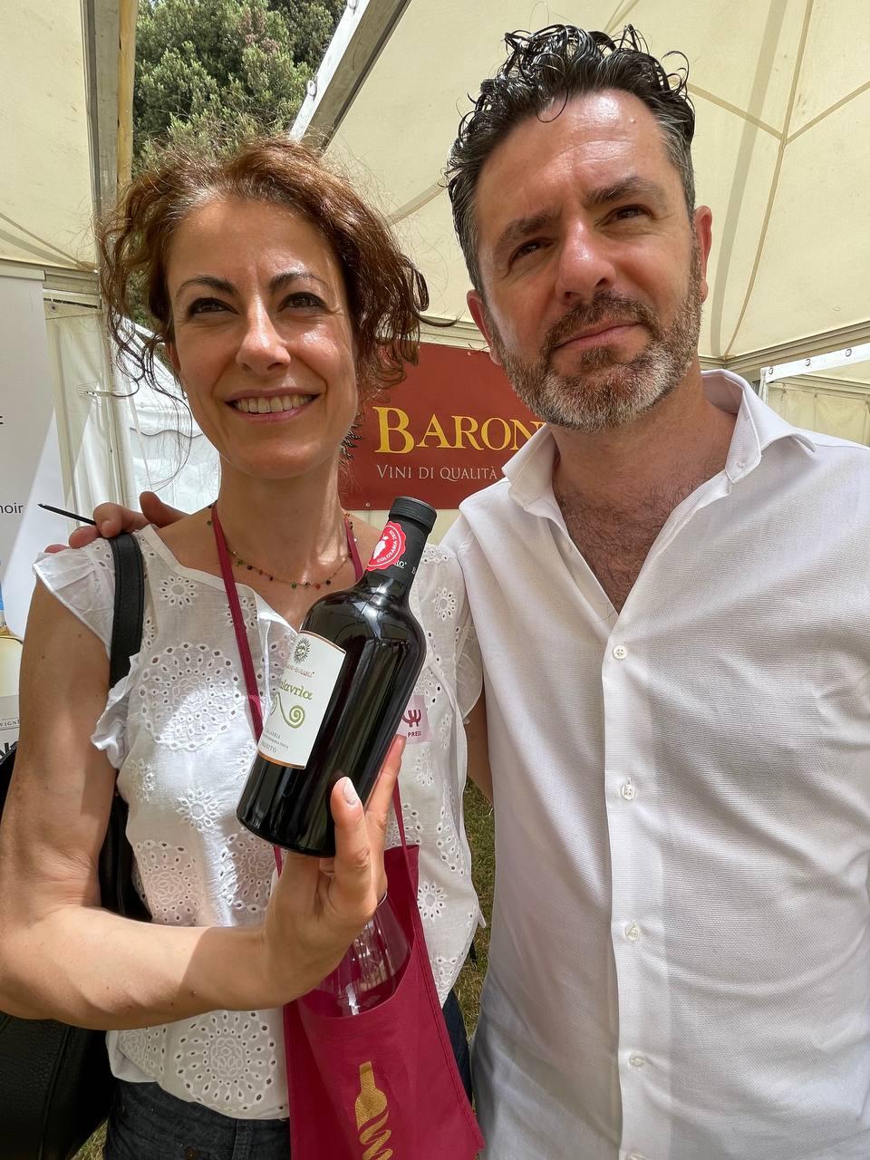 Anna Corrù sommelier e Pasquale Nello di Barone di Bolaro