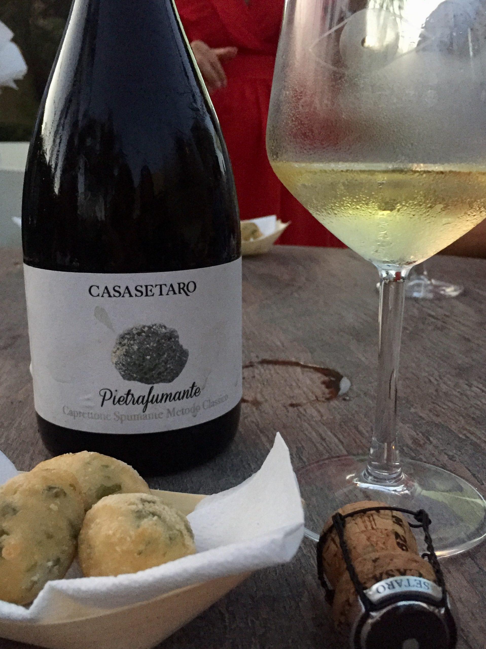 Casa Setaro, Pietrafumante, primo metodo classico da caprettone del Vesuvio vini campani