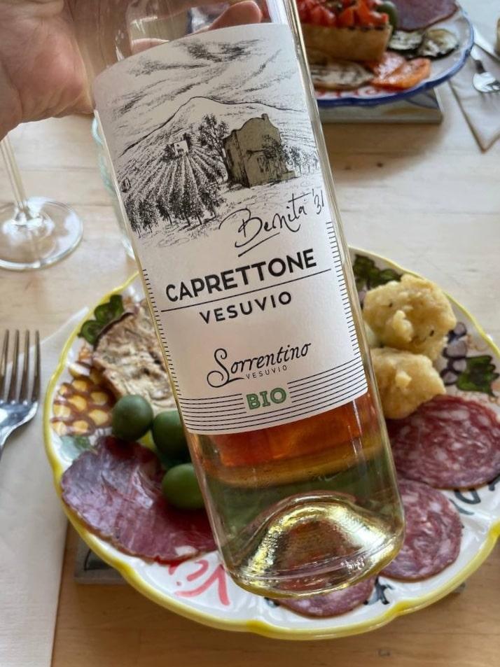 Benita 31, caprettone in purezza di Tenuta Sorrentino vino bio campano